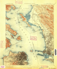 SanFrancisco, California 1899 (1900) USGS Old Topo Map 15x15 Quad