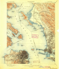 SanFrancisco, California 1899 (1904) USGS Old Topo Map 15x15 Quad