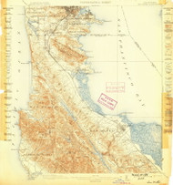 San Mateo, California 1899 (1899) USGS Old Topo Map 15x15 Quad