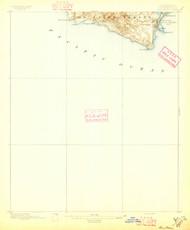 San Pedro, California 1896 (1896) USGS Old Topo Map 15x15 Quad