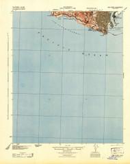 San Pedro, California 1944 (1944) USGS Old Topo Map 15x15 Quad