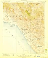 San Simeon, California 1919 (1919) USGS Old Topo Map 15x15 Quad