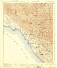 San Simeon, California 1919 (1943) USGS Old Topo Map 15x15 Quad