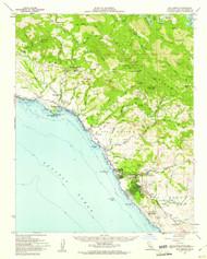 San Simeon, California 1959 (1961) USGS Old Topo Map 15x15 Quad