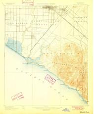 Santa Ana, California 1901 (1901) USGS Old Topo Map 15x15 Quad
