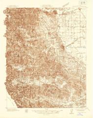 Sebastopol, California 1935 (1935) USGS Old Topo Map 15x15 Quad