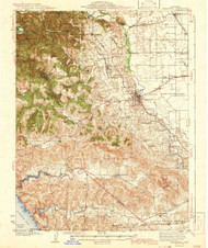 Sebastopol, California 1942 (1942b) USGS Old Topo Map 15x15 Quad