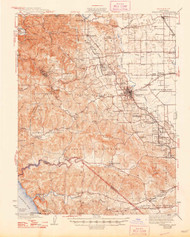 Sebastopol, California 1942 (1948) USGS Old Topo Map 15x15 Quad