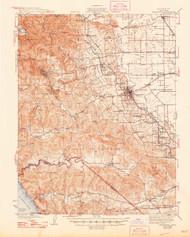 Sebastopol, California 1942 (1948) USGS Old Topo Map 15x15 Quad