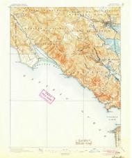 Tamalpais, California 1897 (1905) USGS Old Topo Map 15x15 Quad