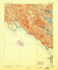 Tamalpais, California 1897 (1907) USGS Old Topo Map 15x15 Quad