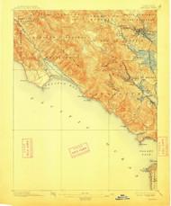 Tamalpais, California 1897 (1913) USGS Old Topo Map 15x15 Quad