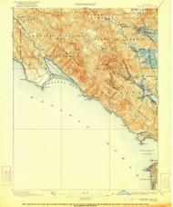 Tamalpais, California 1897 (1922) USGS Old Topo Map 15x15 Quad
