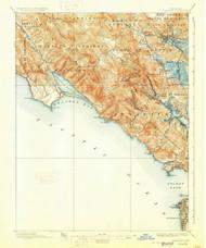Tamalpais, California 1897 (1928) USGS Old Topo Map 15x15 Quad