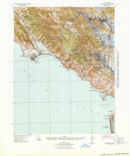 Tamalpais, California 1841 (1941) USGS Old Topo Map 15x15 Quad