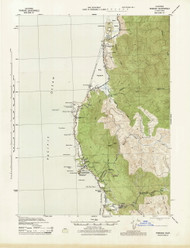Trinidad, California 1945 (1945) USGS Old Topo Map 15x15 Quad
