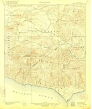 Triunfo Pass, California 1921 (1921) USGS Old Topo Map 15x15 Quad