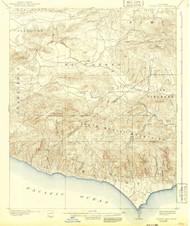 Triunfo Pass, California 1921 (1942) USGS Old Topo Map 15x15 Quad