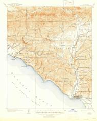 Ventura, California 1904 (1946) USGS Old Topo Map 15x15 Quad