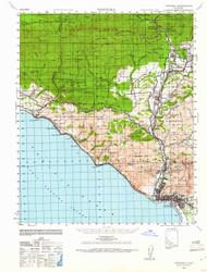 Ventura, California 1941 (1961) USGS Old Topo Map 15x15 Quad