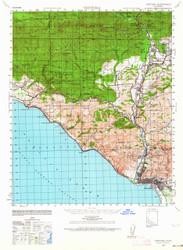 Ventura, California 1941 (1964) USGS Old Topo Map 15x15 Quad