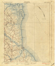 Bowers, Delaware 1936 (1936b) USGS Old Topo Map 15x15 Quad