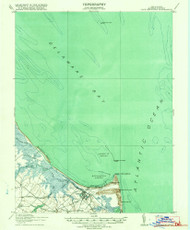 Cape Henlopen, Delaware 1918 (1918b) USGS Old Topo Map 15x15 Quad