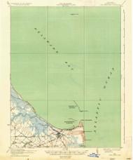 Cape Henlopen, Delaware 1937 (1937) USGS Old Topo Map 15x15 Quad