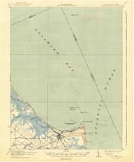 Cape Henlopen, Delaware 1937 (1943) USGS Old Topo Map 15x15 Quad