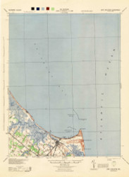 Cape Henlopen, Delaware 1944 (1944) USGS Old Topo Map 15x15 Quad
