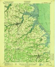 Cedar Creek, Delaware 1918 (1918) USGS Old Topo Map 15x15 Quad