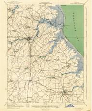 Cedar Creek, Delaware 1938 (1938) USGS Old Topo Map 15x15 Quad