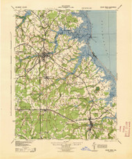 Cedar Creek, Delaware 1944 (1944) USGS Old Topo Map 15x15 Quad