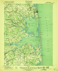 Rehoboth, Delaware 1918 (1918a) USGS Old Topo Map 15x15 Quad