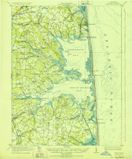 Rehoboth, Delaware 1918 (1928a) USGS Old Topo Map 15x15 Quad