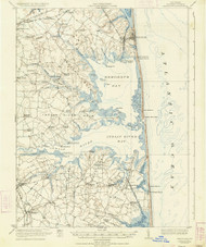 Rehoboth, Delaware 1918 (1934) USGS Old Topo Map 15x15 Quad