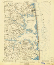 Rehoboth, Delaware 1918 (1940) USGS Old Topo Map 15x15 Quad