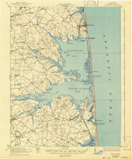 Rehoboth, Delaware 1918 (1943) USGS Old Topo Map 15x15 Quad