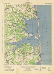 Rehoboth, Delaware 1944 (1944) USGS Old Topo Map 15x15 Quad
