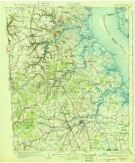 Smyrna, Delaware 1931 (1931b) USGS Old Topo Map 15x15 Quad