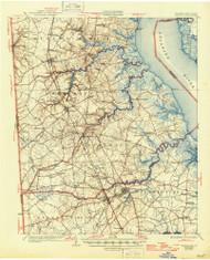 Smyrna, Delaware 1931 (1946) USGS Old Topo Map 15x15 Quad