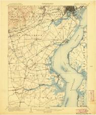 Wilmington, Delaware 1906 (1906) USGS Old Topo Map 15x15 Quad