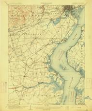 Wilmington, Delaware 1906 (1915) USGS Old Topo Map 15x15 Quad