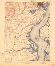 Wilmington, Delaware 1906 (1928) USGS Old Topo Map 15x15 Quad