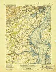 Wilmington, Delaware 1919 (1921) USGS Old Topo Map 15x15 Quad