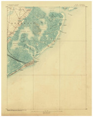 Atlantic City, New Jersey 1887 (1887) USGS Old Topo Map 15x15 Quad