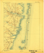 Barnegat, New Jersey 1898 (1911) USGS Old Topo Map 15x15 Quad