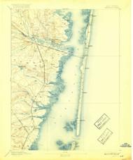 Barnegat, New Jersey 1898 (1917) USGS Old Topo Map 15x15 Quad