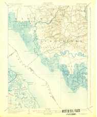 Bay Side, New Jersey 1931 (1931) USGS Old Topo Map 15x15 Quad