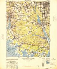 Bridgeton, New Jersey 1948 (1948a) USGS Old Topo Map 15x15 Quad